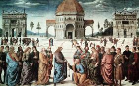 Perugino / Giving the key to Peter