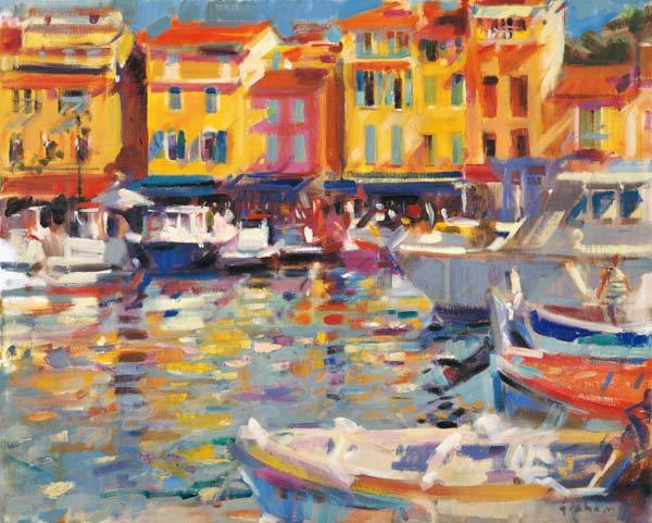 Harbour at Cassis (oil on canvas)