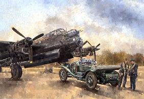 A Lancaster and a Bentley, 2000 (oil on canvas)