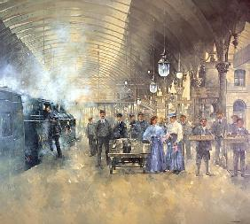 York Railway Station (oil on canvas)