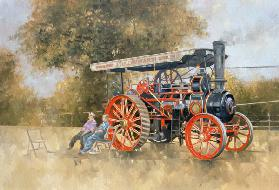 Traction Engine at the Great Eccleston Show, 1998 (oil on canvas)