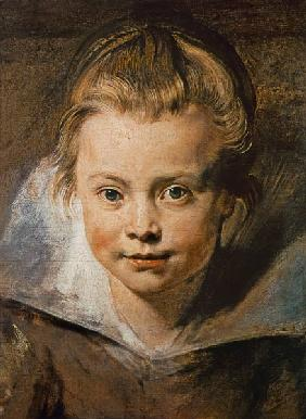 Head of a child (Clara-Serena Rubens) at 1616.