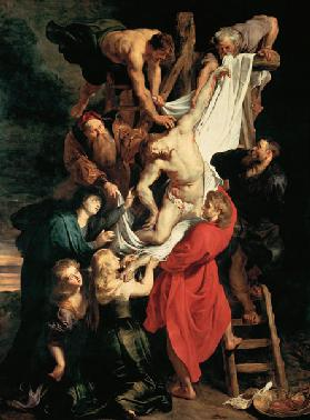 Descent from the Cross triptych, central panel -- Descent from the Cross