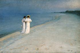 Summer's evening on the Skagen south beach (frame)