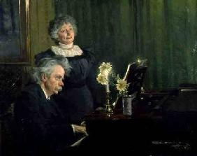 Edward Grieg (1843-1907) Accompanying his Wife