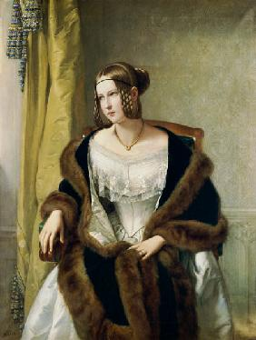 Portrait of the baroness of Bernus.