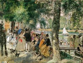 Bathing on the Seine or, La Grenouillere