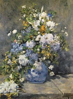 Big vase with flowers