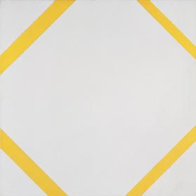 Lozenge Composition with Four Yellow Lines
