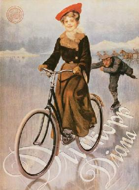 Advertising placard for the ladies' bicycle Diana of the company Dürkopp.