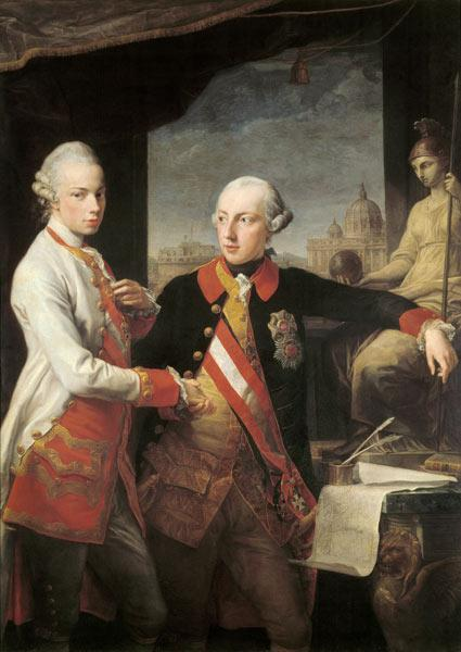 Emperor Joseph II with Grand Duke Pietro Leopoldo of Tuscany