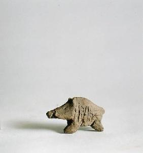 Figurine of a small boar, from Tappeh Sarab, Iran