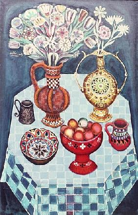 Still Life with Red Apples, 1967 (oil on canvas)