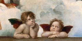 Two Cherubs -Sistine Madonna (section)