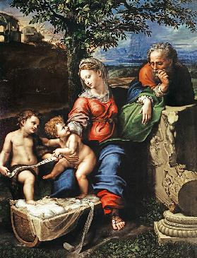 Holy family with St. John (by Raffael and Giulio Romano)