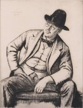 Portrait of Francis Dodd, 1916 (etching)