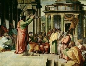 St. Paul Preaching at Athens (cartoon for the Sistine Chapel) (PRE RESTORATION)