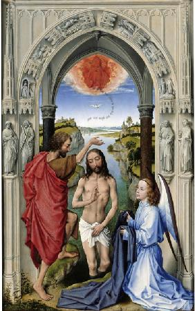 The Baptism of Christ (The Altar of St. John, middle panel)