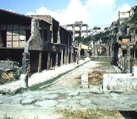 View of the Decumanus Maximus (Main Road) (photo)