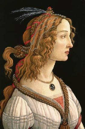 Female half-length portrait (ideal portrait the Simonetta Vespucci)