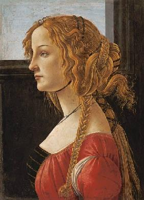 Profile portrait of young Mrs (Simonetta Vespucci)