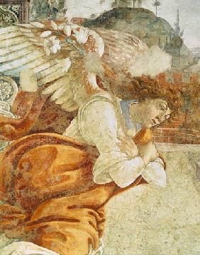 The Annunciation, detail of the Archangel Gabriel, from San Martino della Scala