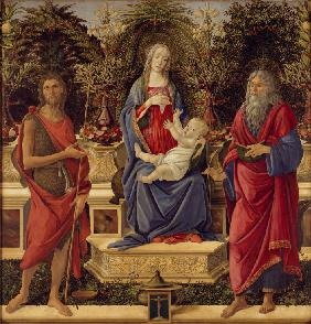 Enthroned Madonna with Child and Saints