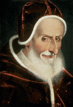 Portrait of Pope Pius V (Michele Ghislieri) (1504-72) 1576-80 (panel)