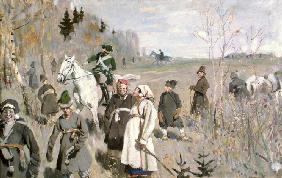 Hunting at the time of the tsar Peter The Great