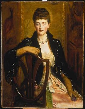 Portrait Of Alice Sophia Caroline Wortley, The Artists Third Daughter