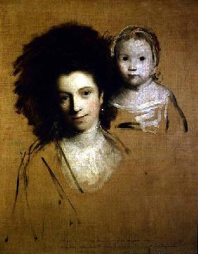 Georgiana, Countess Spencer and her Daughter Lady Georgiana, Afterwards Duchess of Devonshire