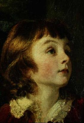 Head of a child detail from the painting the Fourth Duke of Marlborough (1739-1817) and his Family