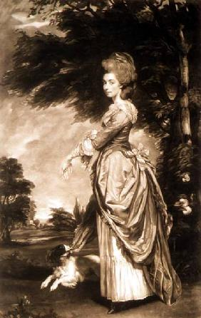 Portrait of Emily Mary, Countess of Salisbury (1750-1835), engraved by Valentine Green (1739-1813)