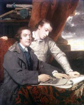 Portrait of James Paine (1717-89) architect, and his son James