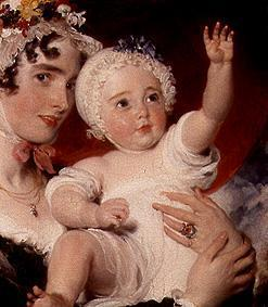 Priscilla Lady Burghesh with her son George