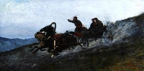 Siberian Troika, Urals, 1876 (oil on canvas)