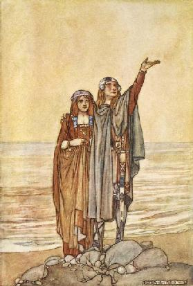 Follow me now to the Hill of Allen, illustration from The High Deeds of Finn, and other Bardic Roman