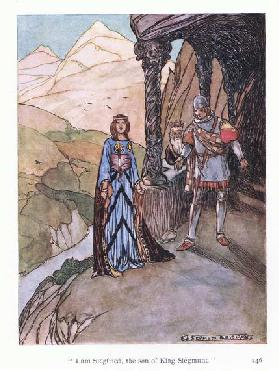 """I am Siegfried, the son of King Siegmund"". (colour litho)"