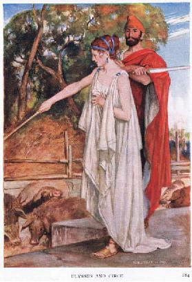 Ulysses and Circe, 1938 (colour litho)