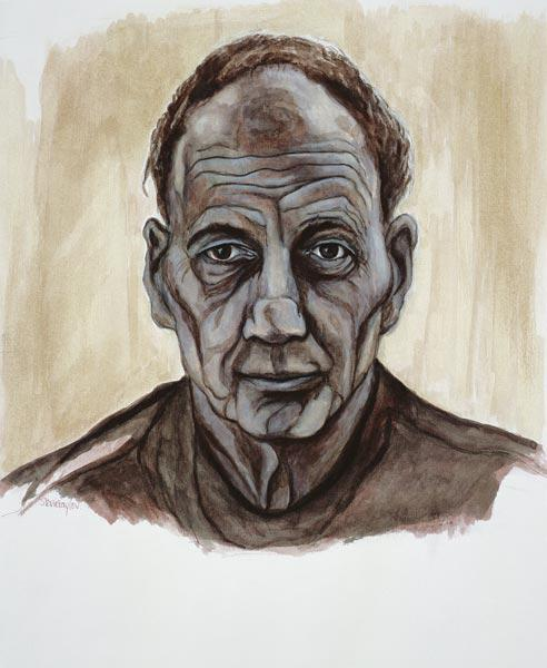 Portrait of Frank Auerbach, 2002 (indian ink and wash over pen and pencil on paper)