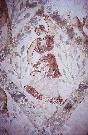 Fresco depicting a female dancer, from the Apodyterium