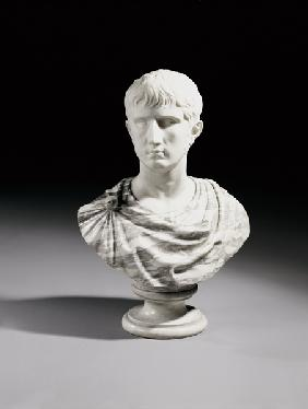 An Italian White And Breche Marble Bust Of Julius Caesar, Second Half 19th Century