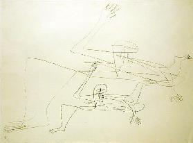 Escape Onself (Second Stadium), 1931 (indian ink on mounted card)