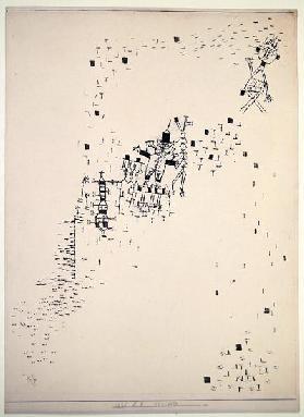 Lost ones, 1925 (no 28) (brush on paper on cardboard)