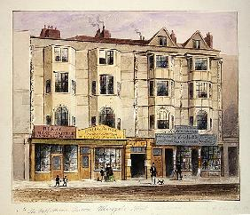 An old House called the Half Moon Tavern, on the West side of Aldersgate Street