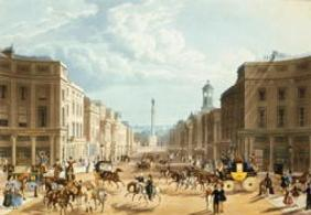 Lower Regent Street, pub. by Ackermann, c.1835 (coloured engraving) (see also 192750)