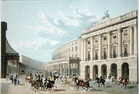 The Quadrant, Regent Street, from Piccadilly Circus, published by Ackermann