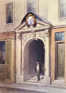 The Entrance to Butchers'' Hall, 1855,