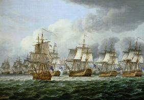 The battle of cape piece of Vincent (1797) or at the dogger bank (1781)
