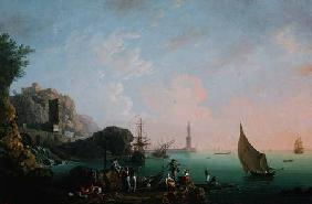 Italian Port Scene (Sunset)